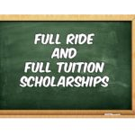 17+ Full Tuition Academic Scholarships 2019