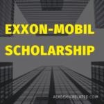 Exxon-Mobil Undergraduate Scholarship 2019-2020