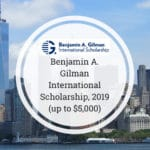 Benjamin A. Gilman International Scholarship 2019-2020
