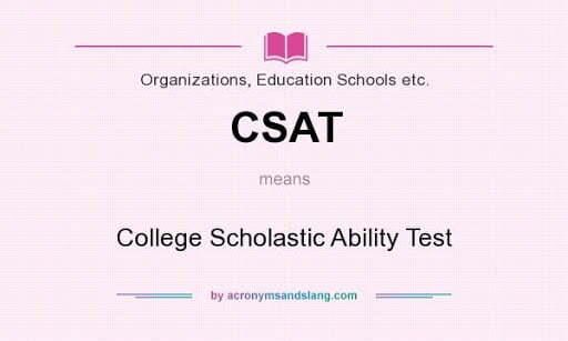 College Scholastic Ability Test (CSAT)