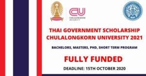 Bangkok Government Scholarship