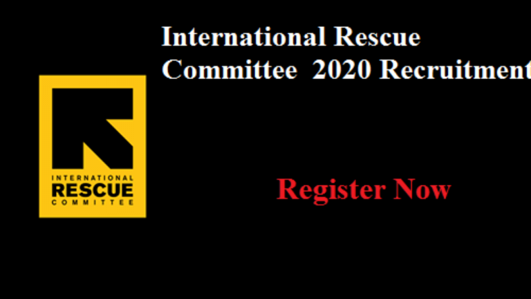 International Rescue Committee (IRC) Job Recruitment