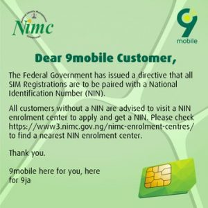 How to Link Your NIN with Your 9Mobile SIM